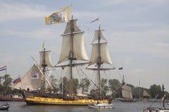 Rocznika tallship żeglowanie w wiatrze Zdjęcie Royalty Free