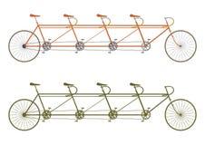 Rocznika tandemowy rower Zdjęcia Stock