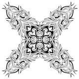 Rocznika tatuażu elementu wzoru kwiecisty projekt Zdjęcie Royalty Free