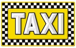 Rocznika taxi taksówki znak ilustracji