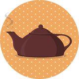 Rocznika Teapot Obraz Royalty Free