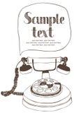 Rocznika telefon ilustracja wektor