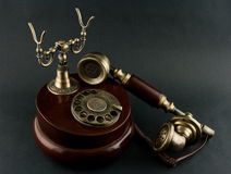 Rocznika telefon obraz stock