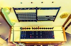 Rocznika telefoniczny switchboard Fotografia Royalty Free