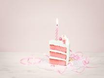 Rocznika torta plasterek fotografia royalty free