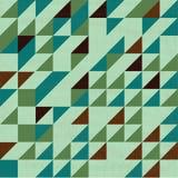 Rocznika trójboka zielony wzór Ilustracja Wektor