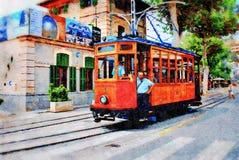 Rocznika tramwaj, Majorca fotografia stock