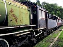 Rocznika transportu taborowa kolejowa perspektywa Obrazy Royalty Free
