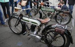 Rocznika Triumph 1918 550cc modela H motocykl zdjęcia stock