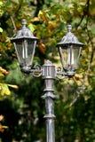 Rocznika uliczny lamppost, Sinaia, Rumunia Zdjęcia Royalty Free