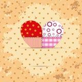Rocznika valentine karta Obrazy Royalty Free