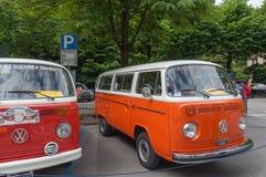 Rocznika Volkswagen samochód dostawczy Obrazy Royalty Free