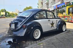Rocznika VW ściga obraz royalty free