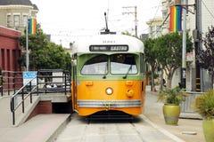 Rocznika wagon kolei linowej w San Fransisco Obraz Stock