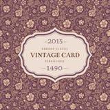Rocznika wektoru klasyczny ornamentacyjny bezszwowy wzór Zdjęcie Royalty Free