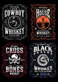 Rocznika whisky etykietki koszulki grafiki kolekcja ilustracji