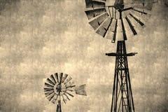 Rocznika wiatraczka abstrakta tło Obraz Stock