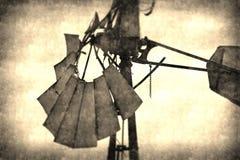 Rocznika wiatraczka abstrakta tło Zdjęcie Stock