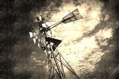 Rocznika wiatraczka abstrakta tło Fotografia Royalty Free
