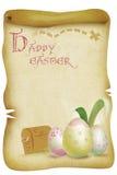 Rocznika Wielkanocnego jajka polowania mapy Szczęśliwa ilustracja royalty ilustracja
