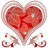 Rocznika wielki czerwony serce Zdjęcie Royalty Free
