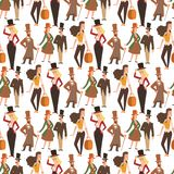 Rocznika wiktoriański kreskówki gents retro ludzie wektorowi Stylowej mody wiktoriański dżentelmenu ubraniowego antyka starzy lud zdjęcia stock