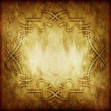 Rocznika wiktoriański grunge papier z kwiecistym ornamentem Obraz Royalty Free