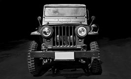 Rocznika Willys samochodowy dżip obraz royalty free