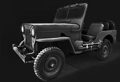 Rocznika Willys samochodowy dżip obrazy royalty free