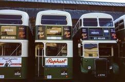 Rocznika wizerunek autobusy w bydle obraz royalty free