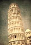 Rocznika wizerunek Oparty wierza Pisa, Włochy Fotografia Stock