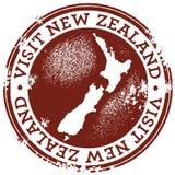 Rocznika Wizyty Nowa Zelandia Znaczek Obraz Royalty Free