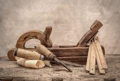 Rocznika woodworking narzędzia, stylizowany hdr wizerunek Fotografia Stock