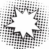 Rocznika wystrzału sztuki komiczek mowa Gulgocze Wektorową Czarny I Biały Walczącą ilustrację ilustracja wektor