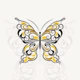 Rocznika wzór w kształcie motyl ilustracja wektor