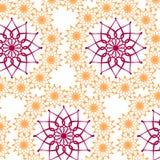 Rocznika wzór z kwiatami Fotografia Stock