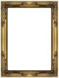 Rocznika złocista drewniana obrazka rama Zdjęcia Royalty Free