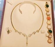 Rocznika złota biżuteria zdjęcia royalty free