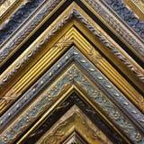 Rocznika złota ramy kąty Obraz Stock