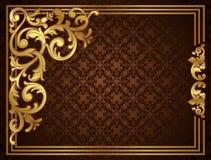Rocznika złota rama Zdjęcie Stock