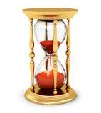 Rocznika złoty hourglass Fotografia Royalty Free