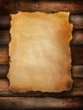 rocznika zakłopotany papierowy drewno zdjęcia stock