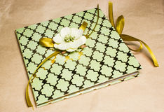 Rocznika zaproszenia karta dla poślubiać lub urodziny obrazy royalty free