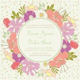 Rocznika zaproszenia kwiecista ślubna karta Fotografia Royalty Free