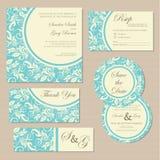 Rocznika zaproszenia ślubne karty Zdjęcie Royalty Free