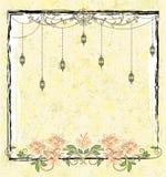 Kwiecisty kartka z pozdrowieniami szablon Fotografia Royalty Free