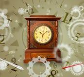 Rocznika zegar z liczbami na stronie Obrazy Stock