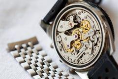 Rocznika zegarek i stali nierdzewnej patka dla dostosowania zdjęcia stock