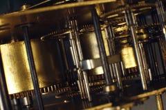 Rocznika zegarka maszynerii makro- szczegół Clockwork stary zegaru zakończenie up Zdjęcia Stock