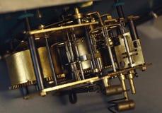Rocznika zegarka maszynerii makro- szczegół Clockwork stary zegaru zakończenie up Obrazy Royalty Free
